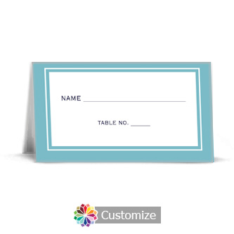 Classical 3.5 x 2 Wedding Place Card