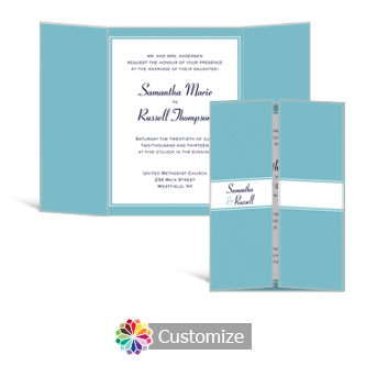 Classical 5 x 7 Gate-Fold Wedding Invitation