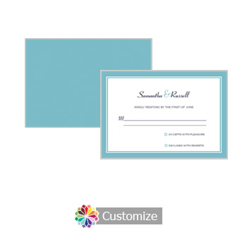 Classical 5 x 3.5 RSVP Enclosure Card - Reception