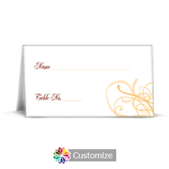 Ornate 3.5 x 2 Wedding Place Card