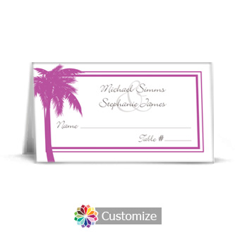 Caribbean Beach 3.5 x 2 Wedding Place Card