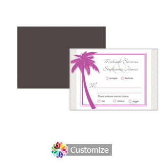 Caribbean Beach 5 x 3.5 RSVP Enclosure Card - Dinner Choice