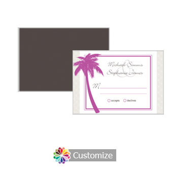 Caribbean Beach 5 x 3.5 RSVP Enclosure Card - Reception