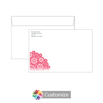 Custom Printing on Bold Geometric Wedding Invitation Envelopes