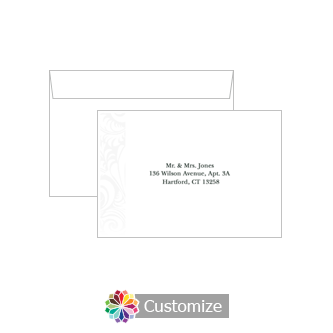 Custom Printing on Wedding Olde Response Card Envelopes