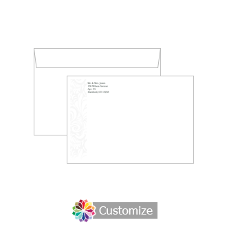 Custom Olde  Envelopes for Wedding Thank You Card
