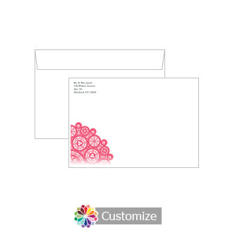Custom Printing on Bold Geometric Wedding Thank You Card Envelopes