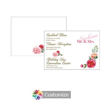 Floral Elegant Summer Poppy 5 x 3.5 Details Enclosure Card