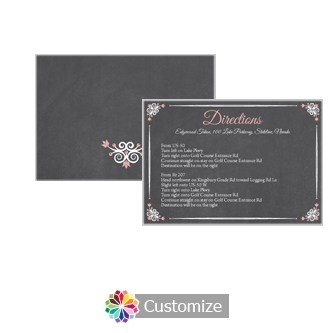 Eat-Drink-Be-Married Chalkboard 5 x 3.5 Directions Enclosure Card