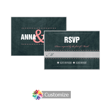Romantic Photo Chalkboard 5 x 3.5 RSVP Enclosure Card - Reception