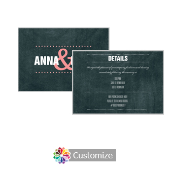 Romantic Photo Chalkboard 5 x 3.5 Details Enclosure Card