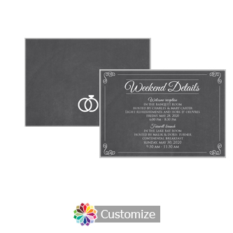 Rings of Love Chalkboard 5 x 3.5 Details Enclosure Card