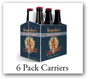 Design your own custom beer bottle boxes. 6 pack carriers