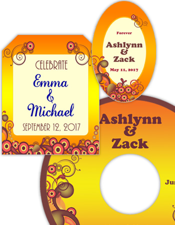 Abstract Wedding Labels
