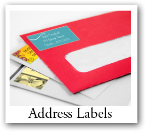return address labels, small rectangle labels