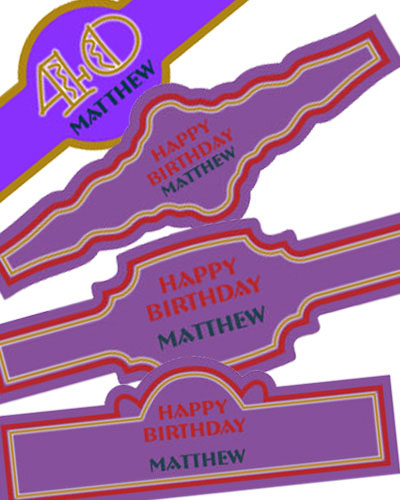 Age Birthday Cigar Band Labels