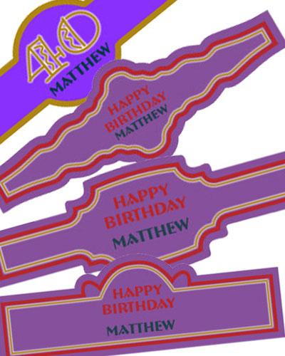 Age Birthday Cigar Band Labels