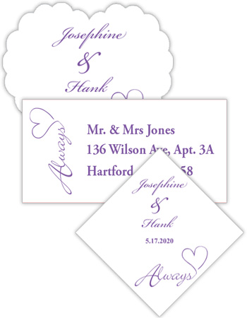 Always Swirly Wedding Labels