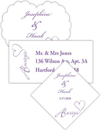 Always Swirly Wedding Labels