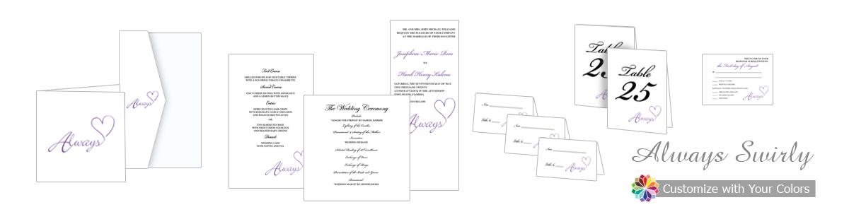 Always Swirly Wedding Invitation
