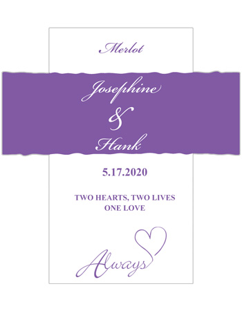 Always Swirly Wine Wedding Labels