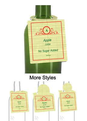 Apple Juice Bottle Tags