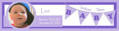 Water Banner Baby Labels 7x1.875