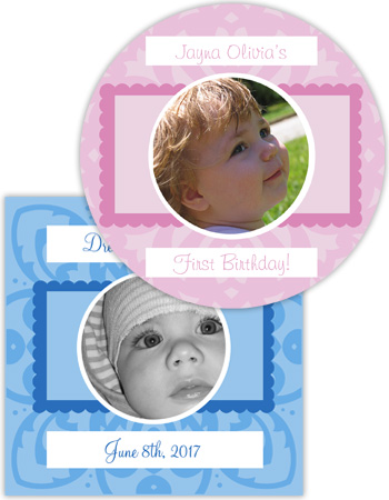 Babe Powder Pink Baby Labels