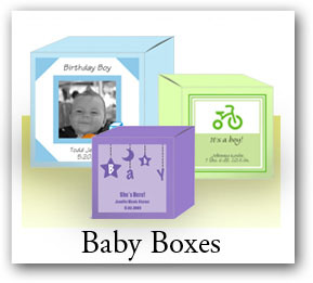 Custom baby favor boxes