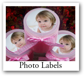 Photo Labels - Custom baby shower Photo Labels - Custom Photo Labels, customizable baby shower labels