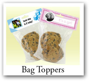 Personalized Christmas treat bags, Photo bag toppers, Custom candy bags