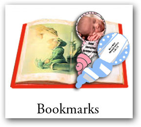 custom bookmarks with photo, birthday bookmarks