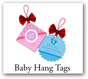 Personalized baby shower labels, stickers and coasters, custom ...