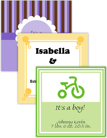 Baby Square Labels