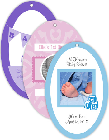 Vertical Oval Baby Hang Tag