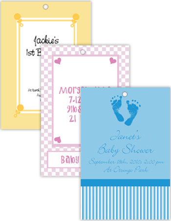 Vertical Rectangle Baby Hang Tag