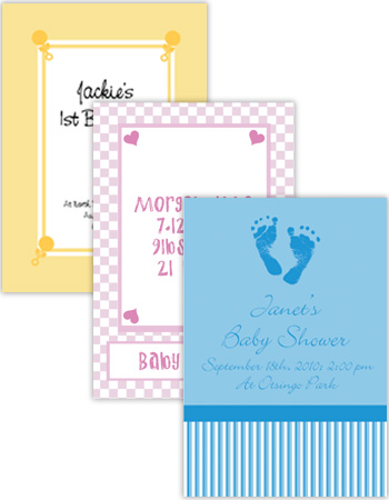 Baby Vertical Rectangle Labels