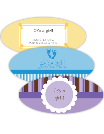 Baby Horizontal Oval Labels