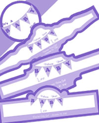 Banner Baby Cigar Band Labels