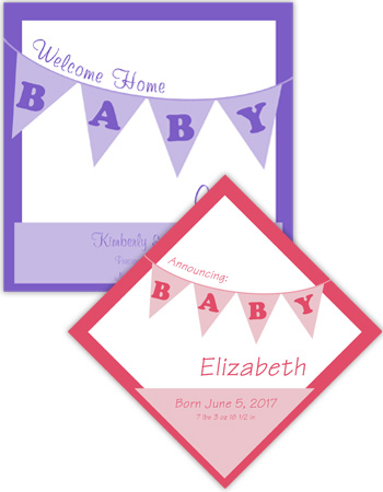 Baby Banner Baby Labels