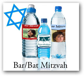 Bat and Bat Mitzvah Water Bottle Labels