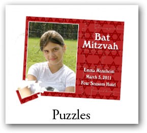 Personalized Bar Mitzvah and Bat Mitzvah Puzzles