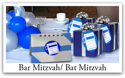 Personalized Bar and Bat Mitzvah Party Favor labels
