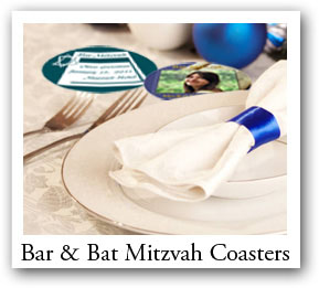 Bar - Bat Mitzvah photo coasters