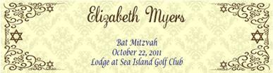 Traditional Water Bat Mitzvah Label