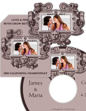 Baroque Wedding Labels