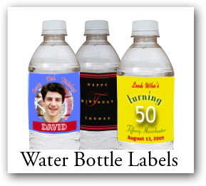 personalize Bat - Bat Mitzvah Water Bottle Labels