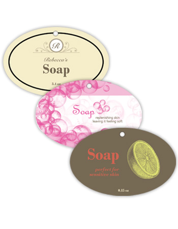 Bath and Body Horizontal Oval Hang Tag