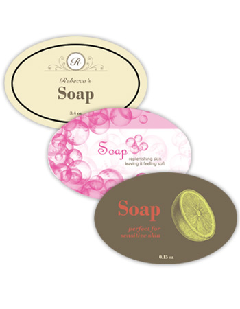 Bath&Body Horizontal Oval Labels