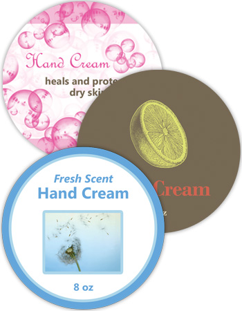 Bath and Body Circle Labels
